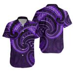 New Zealand Maori Mangopare Hawaiian Shirt Polynesian - Purple K8