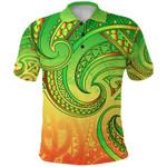 New Zealand Maori Mangopare Polo Shirt Polynesian - Rasta K8