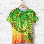 New Zealand Maori Mangopare T Shirt Polynesian - Rasta K8