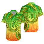 New Zealand Maori Mangopare Hawaiian Shirt Polynesian - Rasta K8