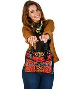 Anzac Lest We Forget Poppy Shoulder Handbag New Zealand Maori Silver Fern - Australia Aboriginal K8