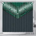 Koru Polynesian Tattoo Shower Curtain K8
