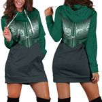 Koru Polynesian Tattoo Women Hoodie Dress K8