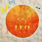 Sun In Leo Zodiac Beach Blanket Polynesian Tattoo Simple - Orange K8