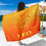 Sun In Leo Zodiac Sarong Polynesian Tattoo Simple - Orange K8