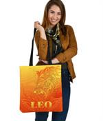 Sun In Leo Zodiac Tote Bag Polynesian Tattoo Simple - Orange K8