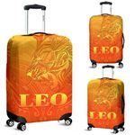Sun In Leo Zodiac Luggage Covers Polynesian Tattoo Simple - Orange