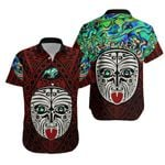 Integrity Maori Ta Moko Hawaiian Shirt Kiwi and Paua Red |1st New Zealand