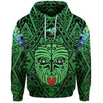 Integrity Maori Ta Moko Hoodie Kiwi and Paua Green |1st New Zealand