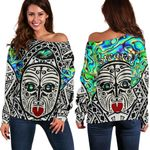 Integrity Maori Ta Moko Off Shoulder Sweater Kiwi and Paua |1st New Zealand