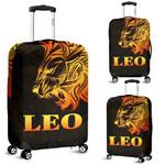 Sun In Leo Zodiac Luggage Covers Polynesian Tattoo Simple - Orange Black