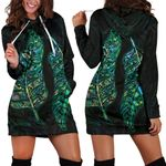 New Zealand Silver Fern Couple Women Hoodie Dress Paua Shell
