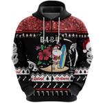 New Zealand Christmas Zip Hoodie Summer Vibe, Custom Text - Baby K8
