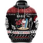 New Zealand Christmas Hoodie Summer Vibe, Custom Text - Baby K8