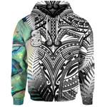 (Custom Personalised) Simple Hoodie Maori Hei Tiki and Paua - Black  1st New Zealand