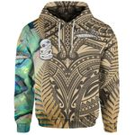 (Custom Personalised) Simple Hoodie Maori Hei Tiki and Paua - Golden |1st New Zealand