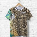 Simple T Shirt Maori Hei Tiki and Paua - Golden |1st New Zealand