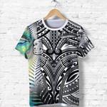Simple T Shirt Maori Hei Tiki and Paua - Black |1st New Zealand