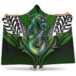 Manaia Mythology Hooded Blanket Silver Fern Maori Tattoo