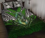 Manaia Mythology Quilt Bed Set Silver Fern Maori Tattoo
