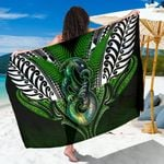 Manaia Mythology Sarong Silver Fern Maori Tattoo