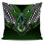Manaia Mythology Pillow Cover Silver Fern Maori Tattoo