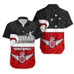 New Zealand Waitangi Day Hawaiian Shirt Warrior On War Canoe