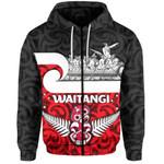 New Zealand Waitangi Day Zip-Hoodie Warrior On War Canoe