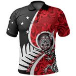 New Zealand Waitangi Day Polo Shirt Ethnic Lizard