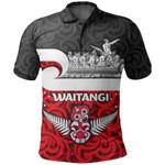 New Zealand Waitangi Day Polo Shirt Warrior On War Canoe