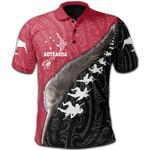 Aotearoa White Maori Polo Shirt Kiwi and Haka New Zealand | Love New Zeland