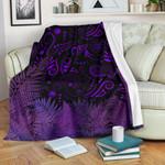 New Zealand Premium Blanket Silver Fern Aotearoa Vibes - Purple
