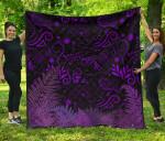 New Zealand Premium Quilt Silver Fern Aotearoa Vibes - Purple