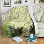New Zealand Premium Blanket Silver Fern Aotearoa Vibes - Beige