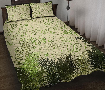 New Zealand Quilt Bed Set Silver Fern Aotearoa Vibes - Beige