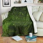 New Zealand Premium Blanket Silver Fern Aotearoa Vibes - Green