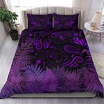 New Zealand Bedding Set Silver Fern Aotearoa Vibes - Purple