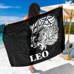 Sun In Leo Zodiac Sarong Polynesian Tattoo Simple - White