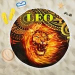 Sun In Leo Zodiac Beach Blanket Polynesian Tattoo Unique Vibes