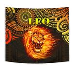 Sun In Leo Zodiac Tapestry Polynesian Tattoo Unique Vibes