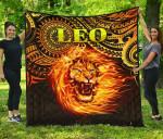 Sun In Leo Zodiac Premium Quilt Polynesian Tattoo Unique Vibes