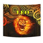Sun In Leo Zodiac Tapestry Polynesian Tattoo Unique Vibes