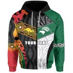 (Custom Personalised) Australia Indigenous and New Zealand Maori Zip Hoodie Proud Front | New Zealand