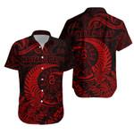 New Zealand Waitangi Day Hawaiian Shirt Silver Fern Maori Vibes - Red K8