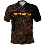 New Zealand Waitangi Day Polo Shirt Silver Fern Maori Vibes - Black K8