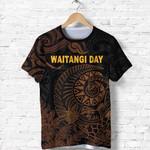 New Zealand Waitangi Day T Shirt Silver Fern Maori Vibes - Black K8