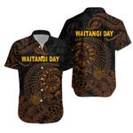 New Zealand Waitangi Day Hawaiian Shirt Silver Fern Maori Vibes - Black K8