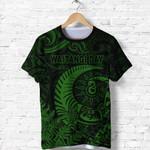 New Zealand Waitangi Day T Shirt Silver Fern Maori Vibes - Green K8