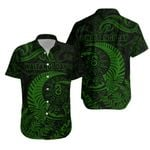 New Zealand Waitangi Day Hawaiian Shirt Silver Fern Maori Vibes - Green K8