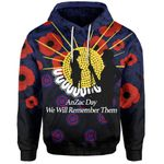 Anzac Day Hoodie We Will Remember Them
